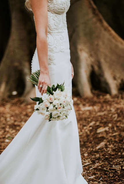 Alin Le' Kal – Size 10 Fit and Flare dress   Second hand wedding dresses Melbourne - 2