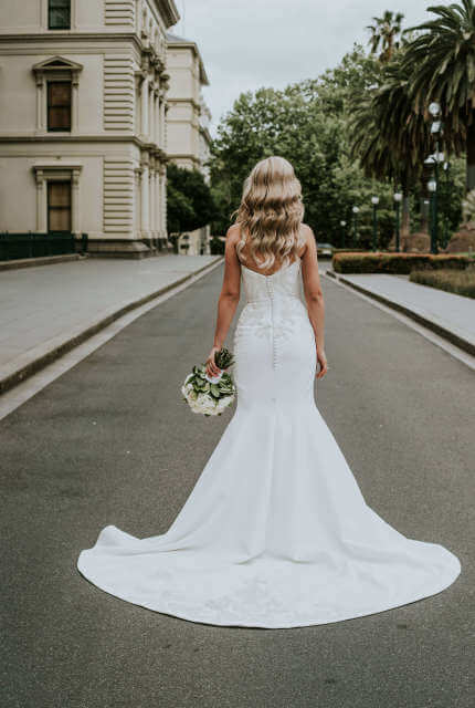 Alin Le' Kal – Size 10 Fit and Flare dress   Second hand wedding dresses Melbourne - 8