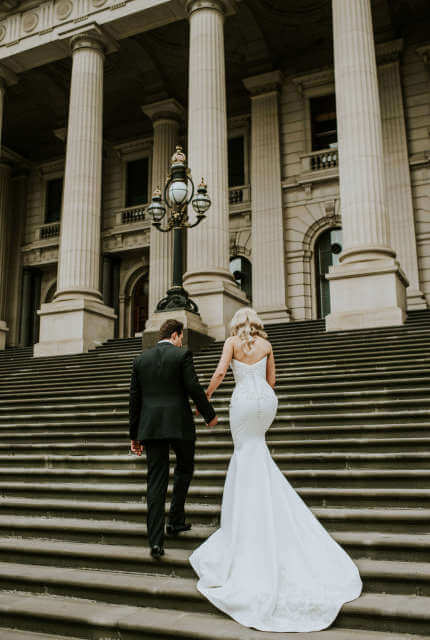 Alin Le' Kal – Size 10 Fit and Flare dress   Second hand wedding dresses Melbourne - 3