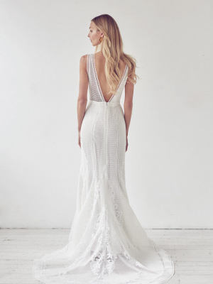Suzanne Harward – Size 10 Fit and Flare dress | Second hand wedding dresses Melbourne - 2