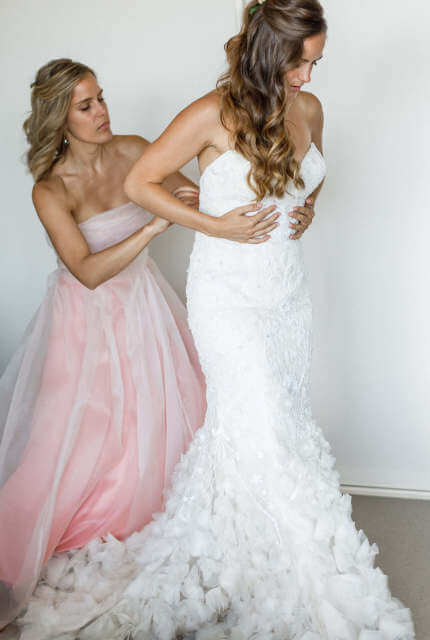 Lazaro – Size 8 Trumpet dress | Second hand wedding dresses Summer Hill - 2