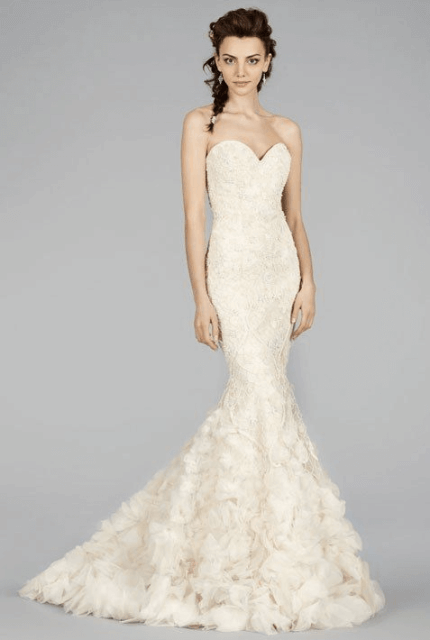 Lazaro – Size 8 Trumpet dress | Second hand wedding dresses Summer Hill - Size 8