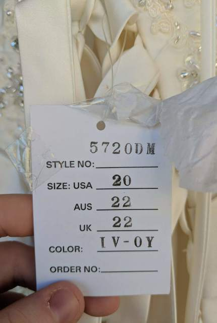 Stella York – Size 22 A-Line dress | Second hand wedding dresses Christie Beach - 5