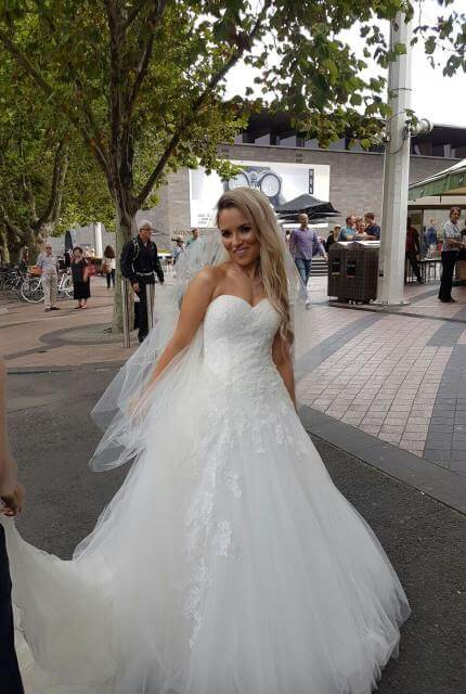 Pronovias – Size 8 A-Line dress | Second hand wedding dresses Bentleigh - 2