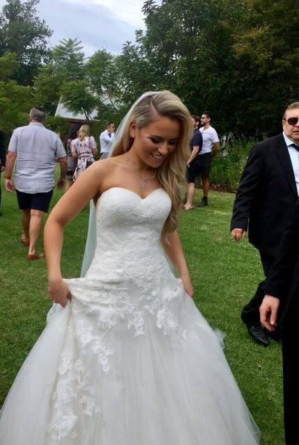 Pronovias – Size 8 A-Line dress | Second hand wedding dresses Bentleigh - 3