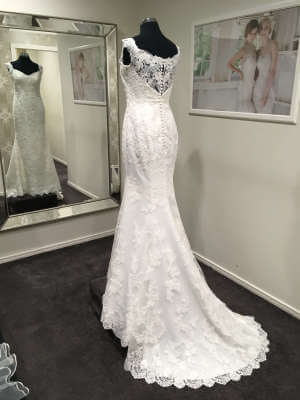 Ellis Bridal – Size 14 Sheath dress | Second hand wedding dresses Penrith - 2