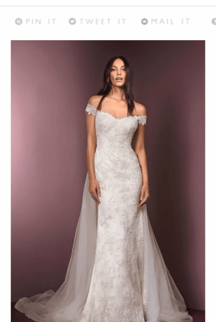 Ellis Bridal – Size 14 Sheath dress | Second hand wedding dresses Penrith - 10