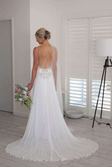 Melanie Ford – Size 8 Slip dress | Second hand wedding dresses Adamstown Heights - 2