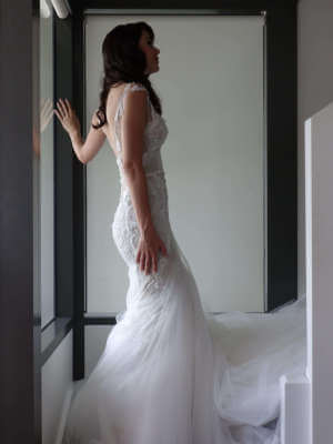 MXM Couture – Size 8 Fit and Flare dress | Second hand wedding dresses Newstead - 5