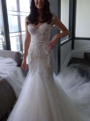 MXM Couture – Size 8 Fit and Flare dress | Second hand wedding dresses Newstead - 3