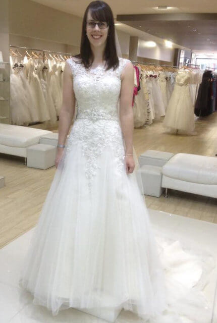 Mia Solano – Size 8 A-Line dress | Second hand wedding dresses Heidelberg Heights - 1