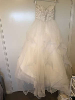 Paolo Sebastian – Size 6 Fishtail dress | Second hand wedding dresses West Pennant Hills - 6