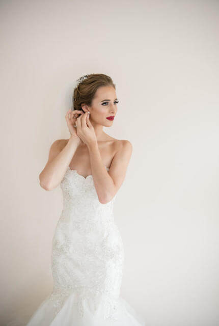 Maggie Sottero – Size 6 Strapless dress | Second hand wedding dresses Newport - Size 6