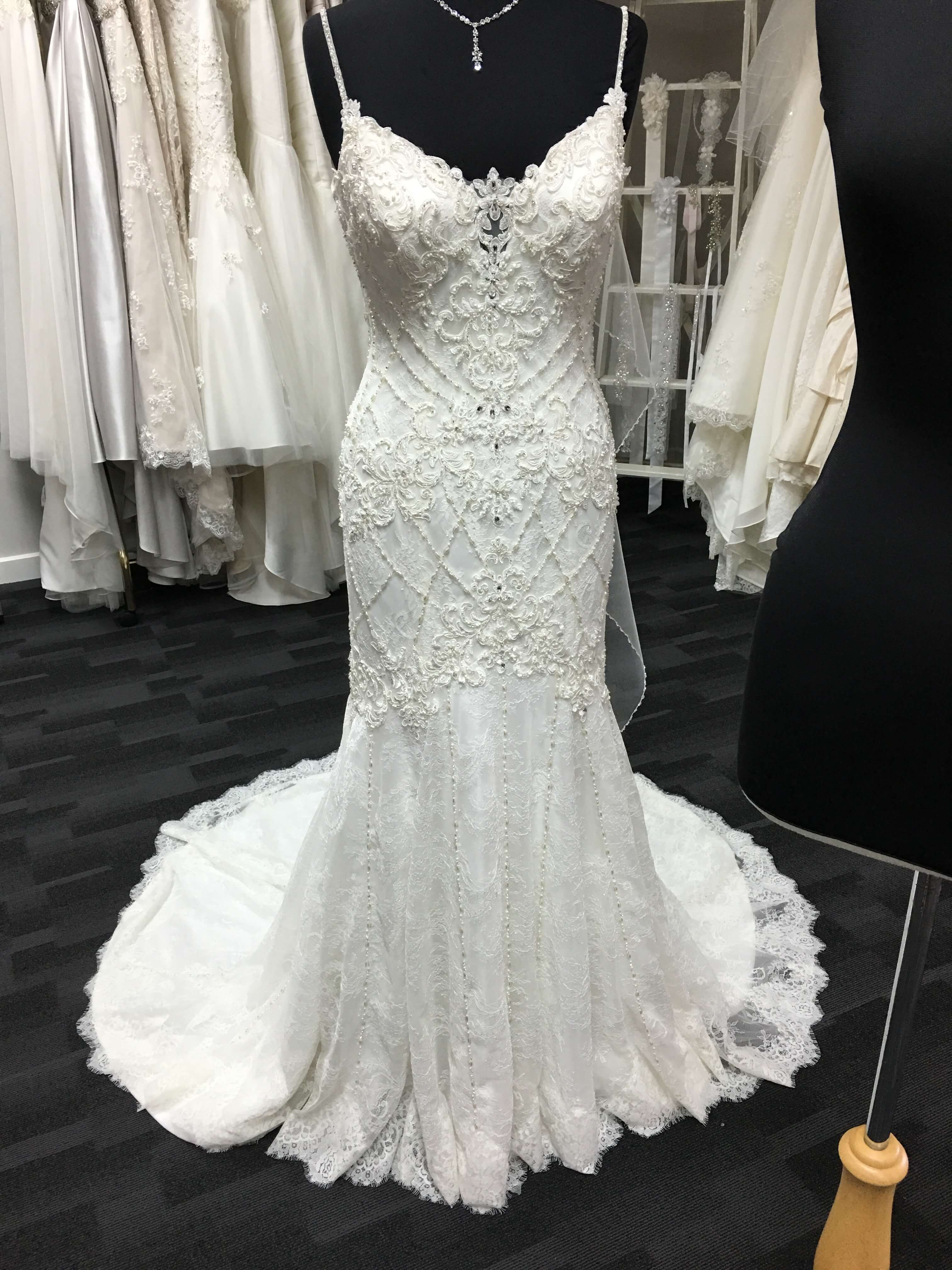 Justin Alexander – Size 12 Fit and Flare dress | Second hand wedding dresses Wonthaggi - Size 12