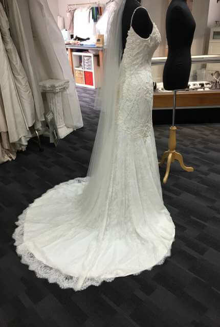 Justin Alexander – Size 12 Fit and Flare dress | Second hand wedding dresses Wonthaggi - 2
