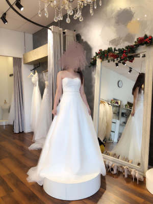 A-Line dress by Bella E La Bestia Bridal