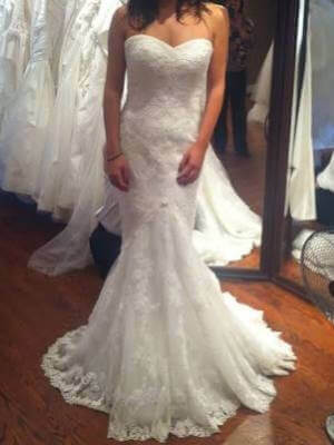 La Sposa – Size 6 Fit and Flare dress | Second hand wedding dresses Taylors Hill - 3