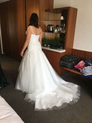 Jack Sullivan – Size 10 Fit and Flare dress | Second hand wedding dresses Dingley - 4