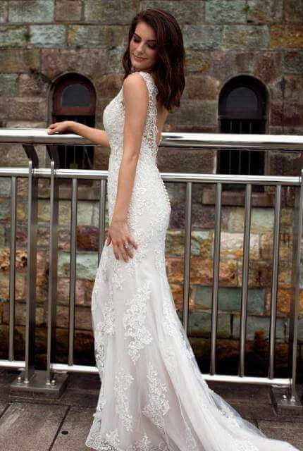 Mia Solano – Size 12 Fit and Flare dress   Second hand wedding dresses Broadbeach - Size 12