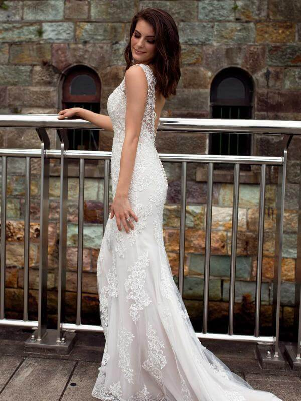Mia Solano – Size 12 Fit and Flare dress | Second hand wedding dresses Broadbeach - Size 12