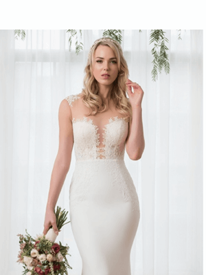 Peter Trends – Size 10 Sheath dress | Second hand wedding dresses Ascot Vale - 5