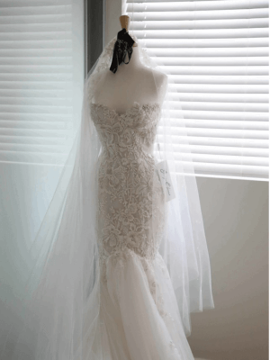 George Elsissa – Size 6 Fit and Flare dress | Second hand wedding dresses Sydney - 7