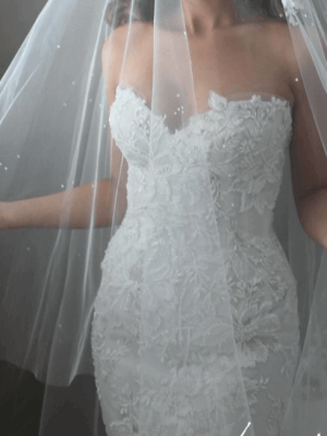 George Elsissa – Size 6 Fit and Flare dress | Second hand wedding dresses Sydney - 2