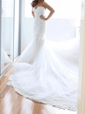 George Elsissa – Size 6 Fit and Flare dress | Second hand wedding dresses Sydney - 5