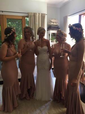 Karen Willis Holmes – Size 6 Fit and Flare dress | Second hand wedding dresses Tecoma - 8