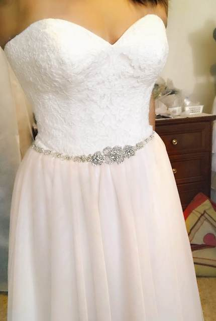 Allure Romance – Size 10 Strapless dress | Second hand wedding dresses WOODVILLE NORTH - 5