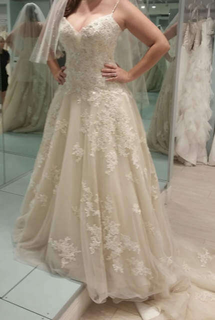 Sophia Tolli – Size 12 A-Line dress | Second hand wedding dresses Crestmead - Size 12