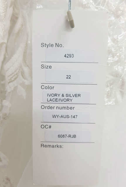 Christina Rossi – Size 22 A-Line dress | Second hand wedding dresses Cairns - 8
