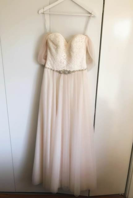 Allure Romance – Size 10 Strapless dress | Second hand wedding dresses WOODVILLE NORTH - 3