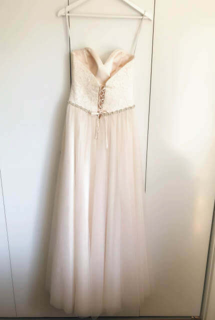 Allure Romance – Size 10 Strapless dress | Second hand wedding dresses WOODVILLE NORTH - 2