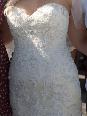 Christina Rossi – Size 12 Fit and Flare dress | Second hand wedding dresses Beaumaris - 3