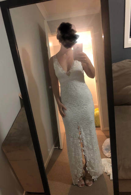 Grace Loves Lace – Size 10 A-Line dress | Second hand wedding dresses Burpengary - 4