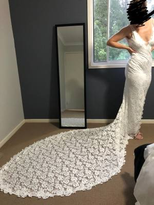 Grace Loves Lace – Size 10 A-Line dress | Second hand wedding dresses Burpengary - 2