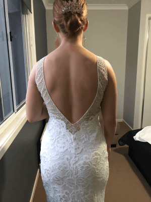 Grace Loves Lace – Size 10 A-Line dress | Second hand wedding dresses Burpengary - 3