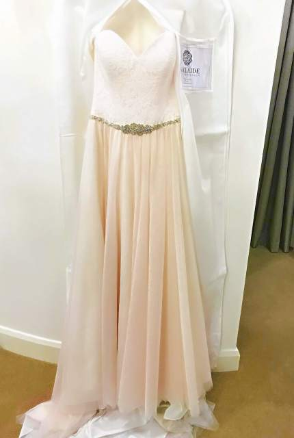 Allure Romance – Size 10 Strapless dress | Second hand wedding dresses WOODVILLE NORTH - Size 10