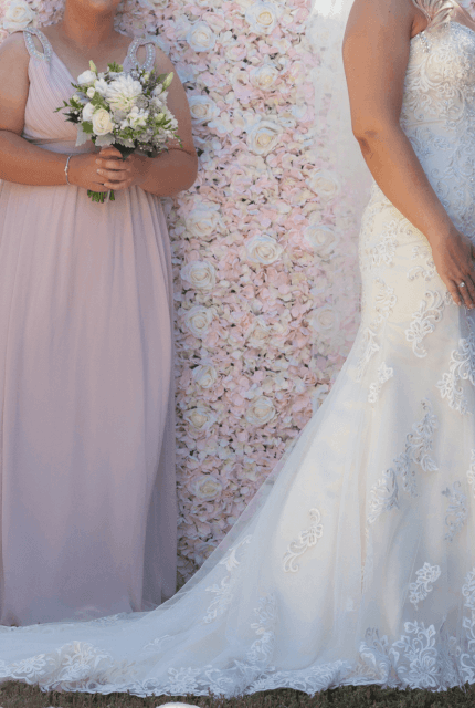 Christina Rossi – Size 12 Fit and Flare dress | Second hand wedding dresses Beaumaris - 4