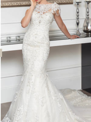 Christina Rossi – Size 12 Fit and Flare dress | Second hand wedding dresses Beaumaris - 5