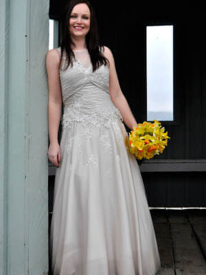 Jean Fox – Size 8 A-Line dress | Second hand wedding dresses Speers Point - 8