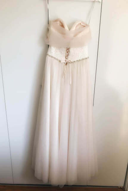 Allure Romance – Size 10 Strapless dress | Second hand wedding dresses WOODVILLE NORTH - 4