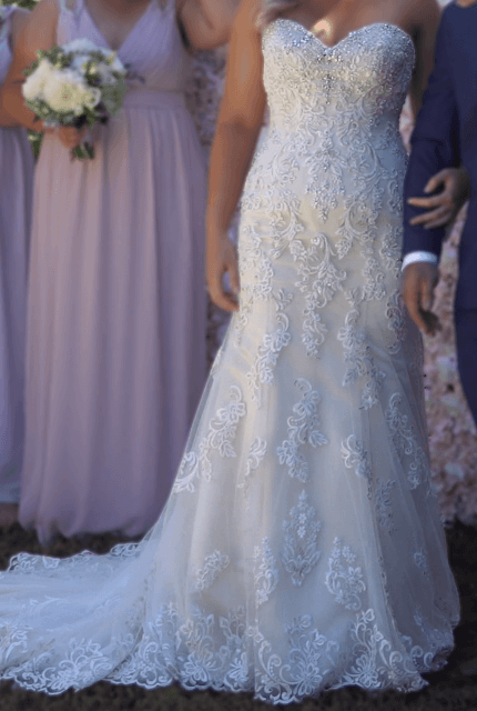 Christina Rossi – Size 12 Fit and Flare dress | Second hand wedding dresses Beaumaris - Size 12