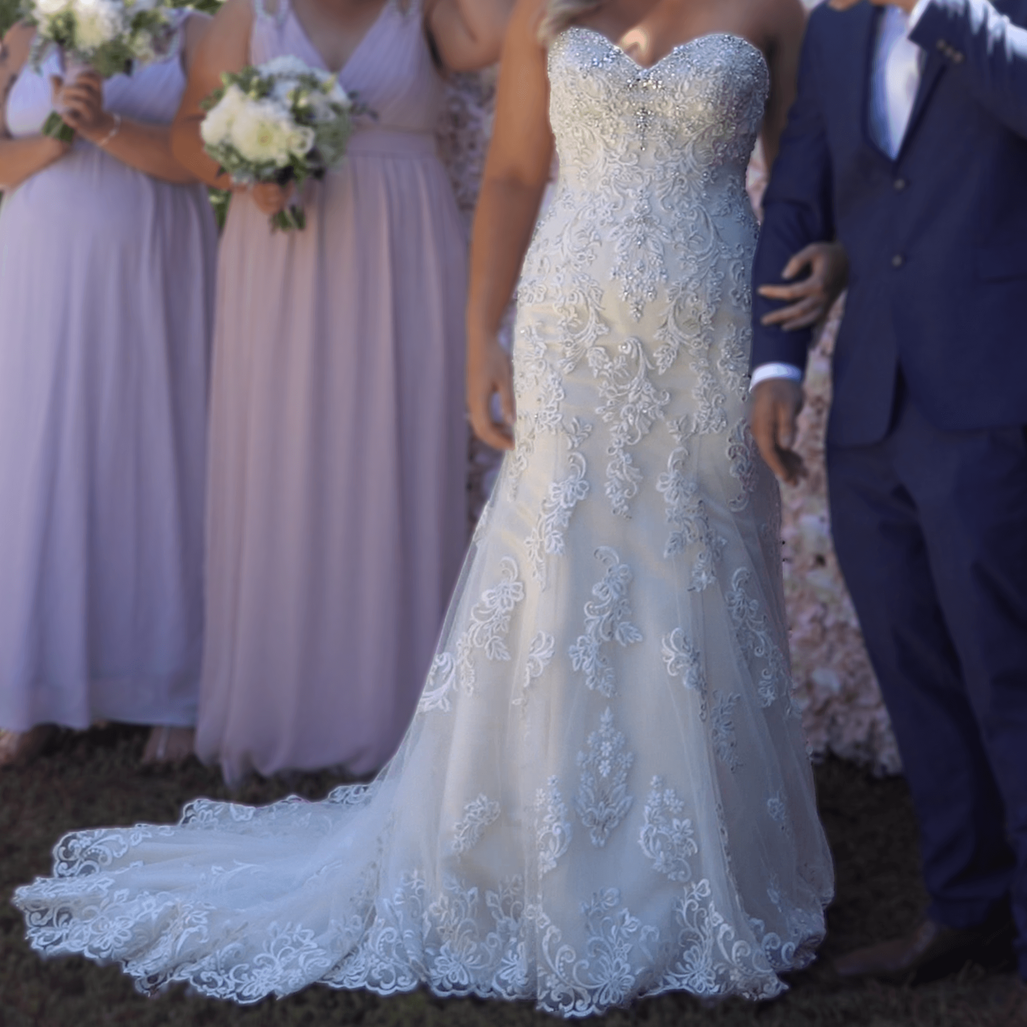 Second Hand Wedding Dresses: Christina Rossi - Size 12 Fit And Flare Dress