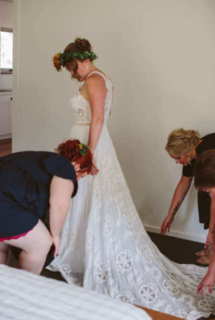 Rue De Seine – Size 12 A-Line dress | Second hand wedding dresses Nagambie - 4