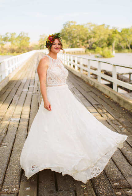 Rue De Seine – Size 12 A-Line dress | Second hand wedding dresses Nagambie - 11