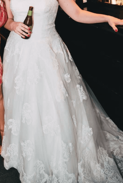 Allure Bridals – Size 16 A-Line dress | Second hand wedding dresses Pakenham - 3