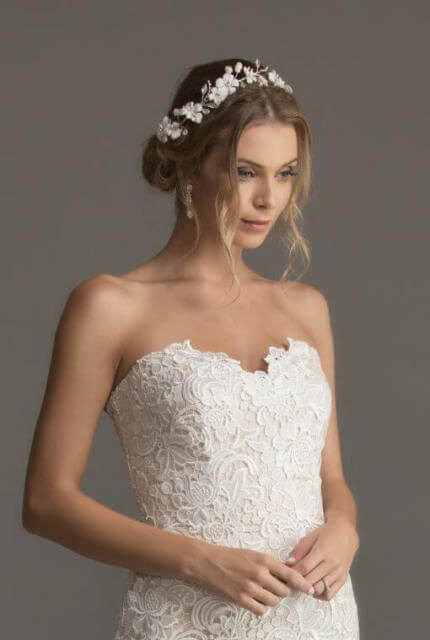 Caleche Bridal House – Size 10 Strapless dress | Second hand wedding dresses Hampton - 3