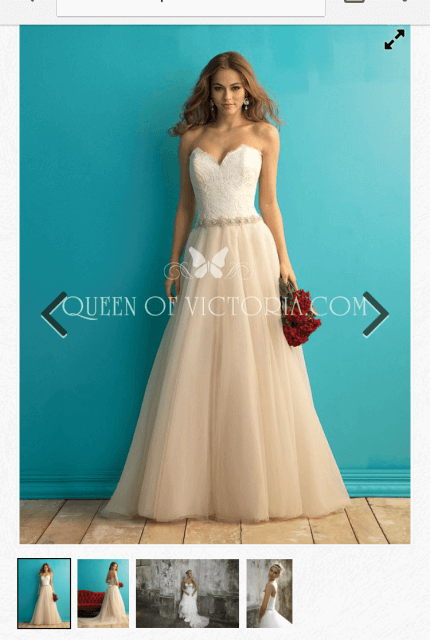 Allure Romance – Size 10 Strapless dress | Second hand wedding dresses WOODVILLE NORTH - 7